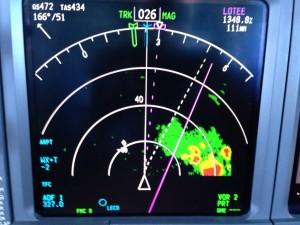 Le radar météo embarqué dans les avions leur donne la position des nuages et l'intensité des turbulences qu'ils contiennent... ils sont donc évitables !