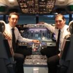 """Simulateur de vol Flight Experience utilisé dans le stage """"Prêt à décoller"""" à Paris"""