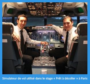 Simulateur de vol utilisé dans le stage « Prêt à décoller » à Paris