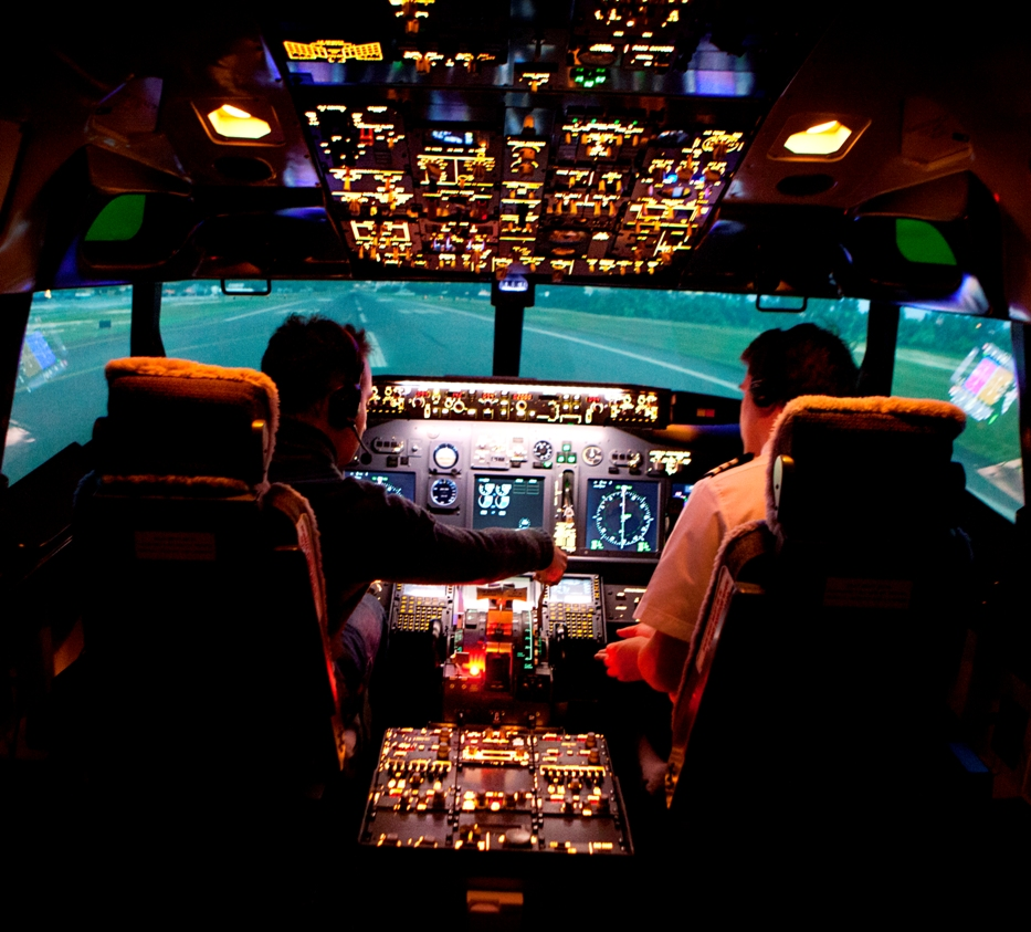 cockpit simulateur de vol pour vaincre sa peur de prendre l'avion