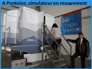 Stage contre la peur de l'avion à Pontoise avec un simulateur en mouvements