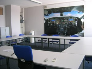 Salle de briefing stage peur avion suisse